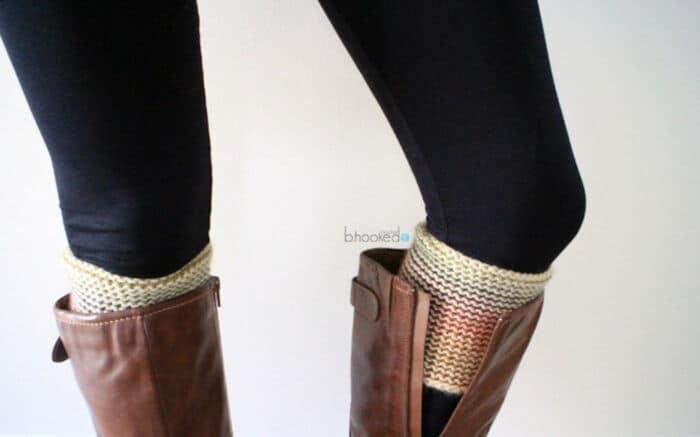 Knit Alike Tunisian Crochet Boot Cuffs by B.Hooked Crochet