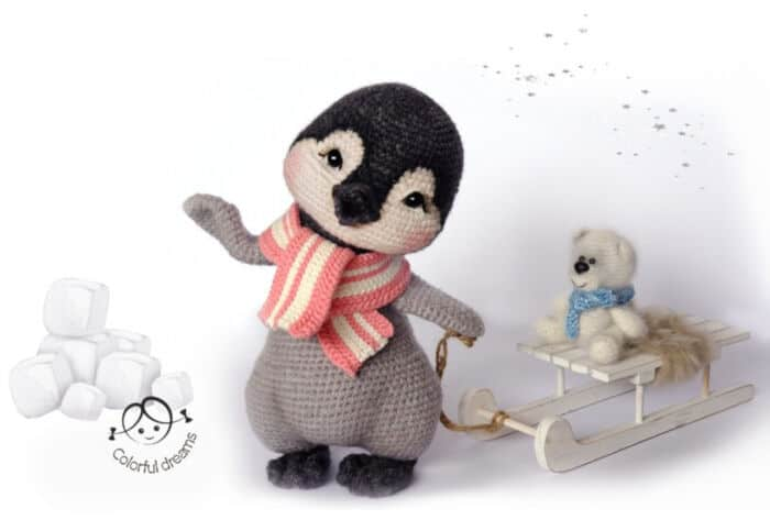 Penguin Girl Lina by Etsy