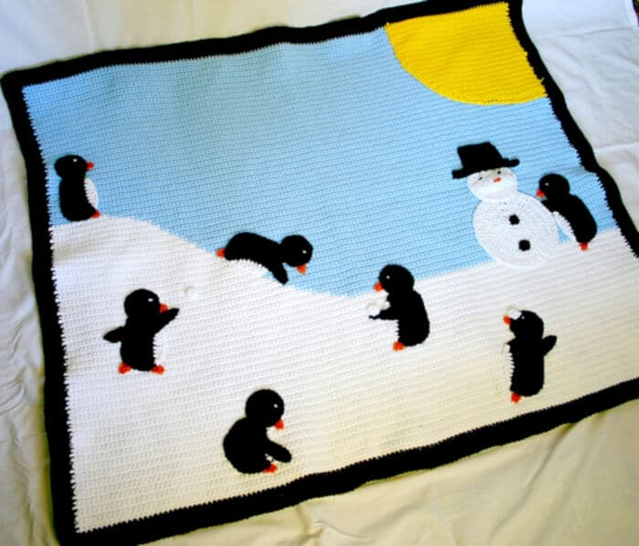 Penguin Winter Afghan by Ravelry