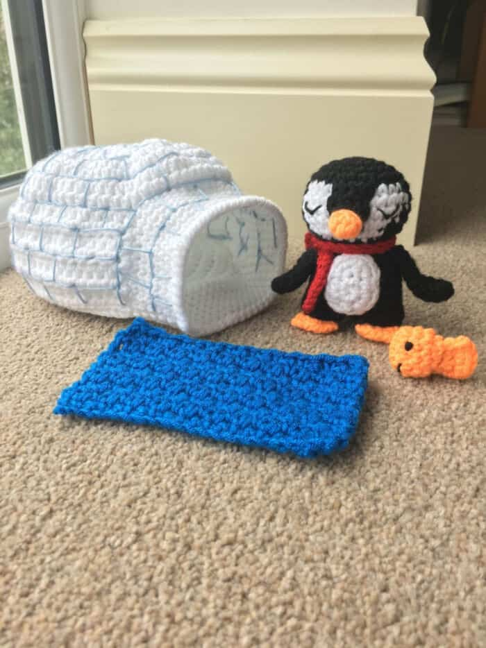 Penguin and Igloo Playset by Etsy