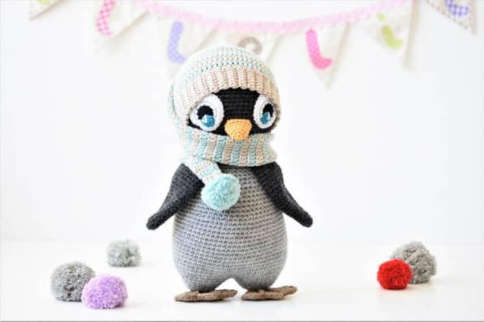 Pompon Hat Penguin by Etsy