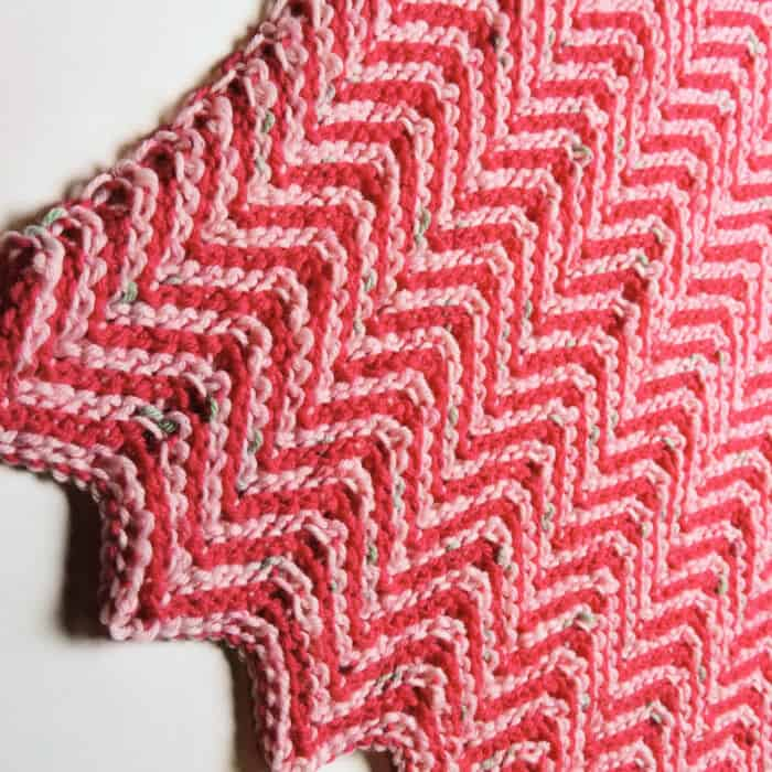 Ripple Candy Baby Blanket by Crochet Kim