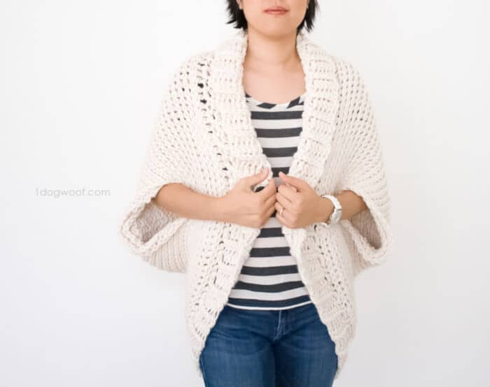 Simple Starlight Shrug Crochet Pattern by One Dog Woof