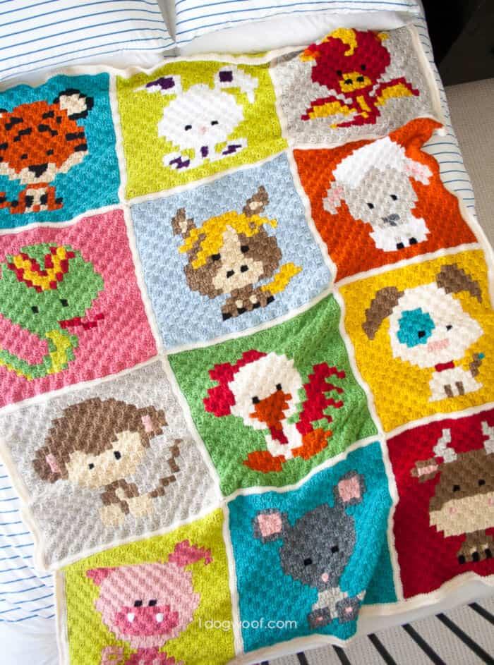 Zoodiacs-C2C-Crochet-Afghan-by-One-Dog-Woof