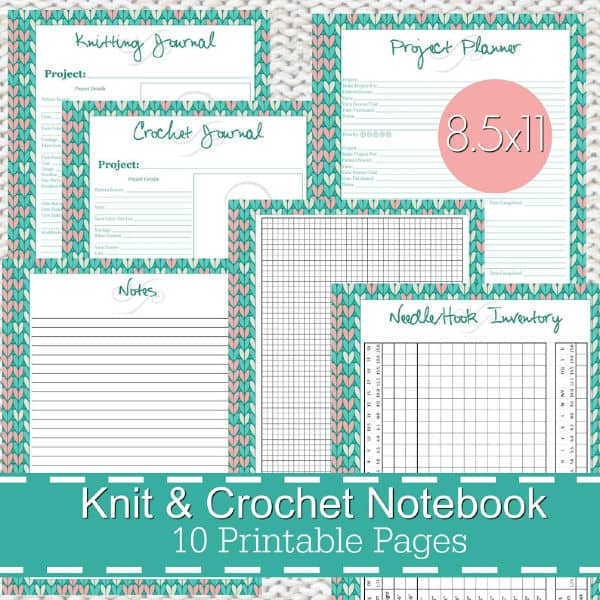 Crochet Journal printables