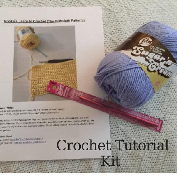 Beginner Crochet Kit - Washcloth