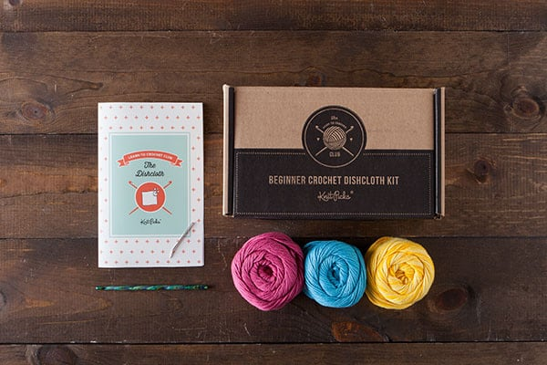 We Crochet Learn To Crochet Kit Dishcloth Bloom