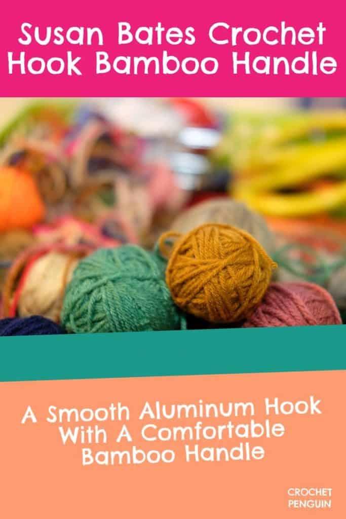Susan Bates Crochet Hook Bamboo Handle Pin