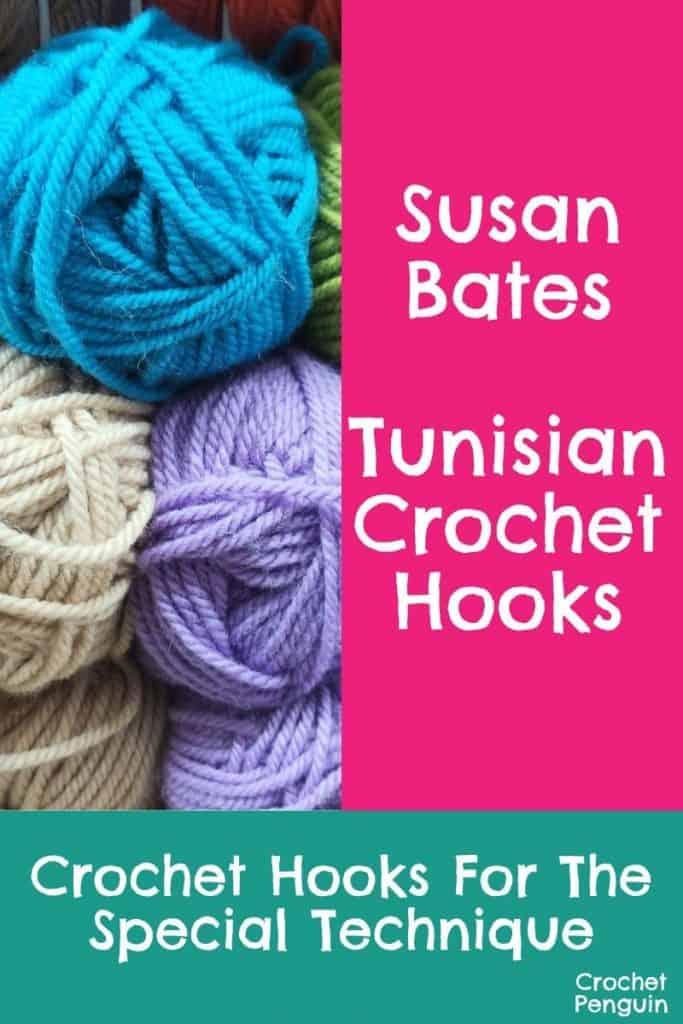 Susan Bates Tunisian Crochet Hooks Pin