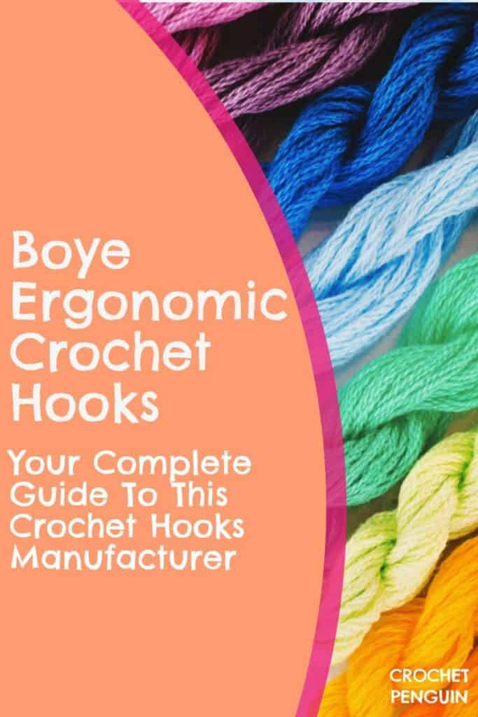 Boye Crochet Hooks Ergonomic Pin