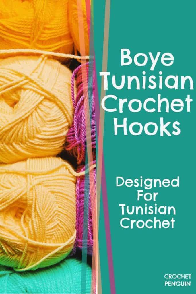 Boye Tunisian Crochet Hooks  Pin