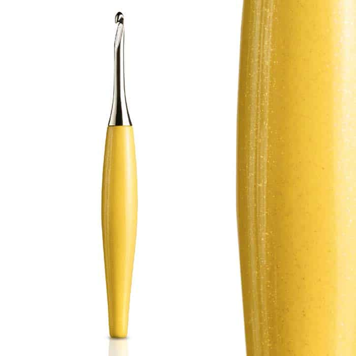 Yellow & Nickel Odyssey Crochet Hook