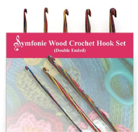 Knit Pro Symfonie Wood Double Ended Crochet Hook Set