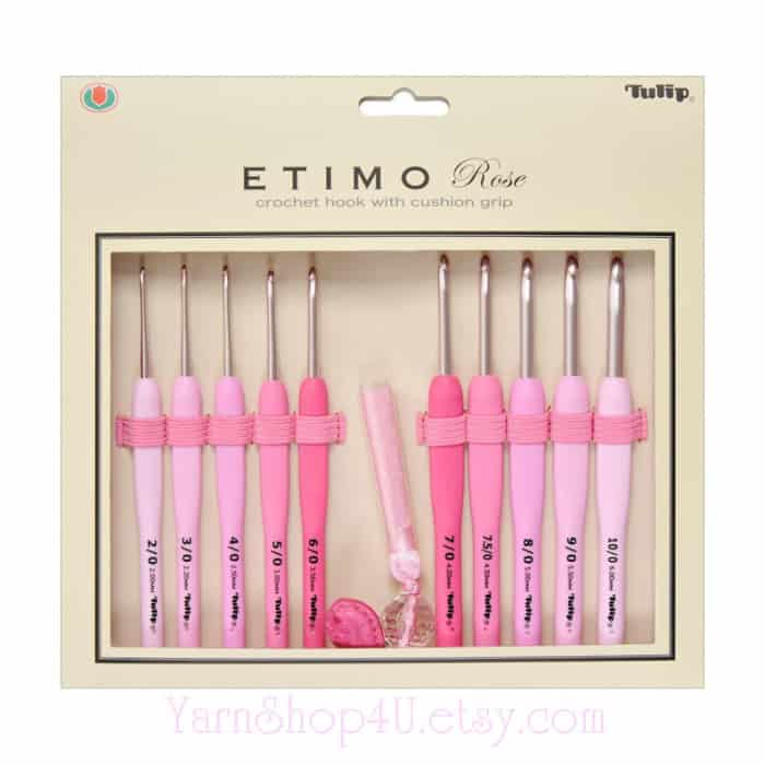 Tulip Etimo Rose Crochet Hooks Set at YarnShop4U Etsy Store