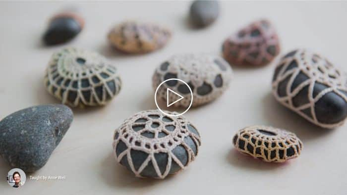 Crocheted Stones by Anne Weil