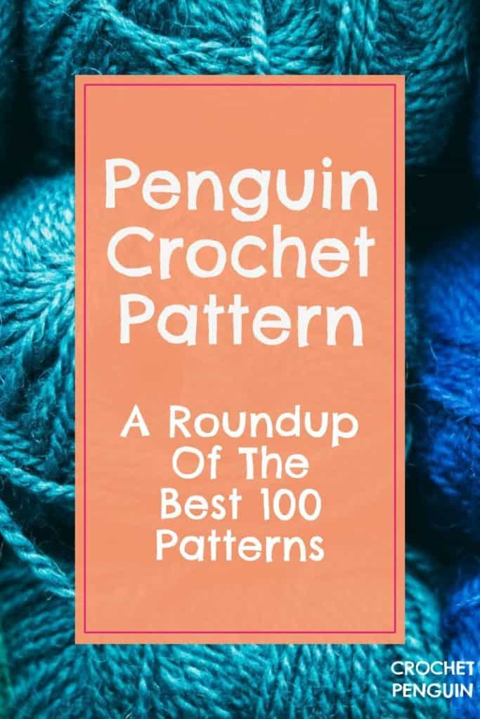 Penguin Crochet Pattern Pin