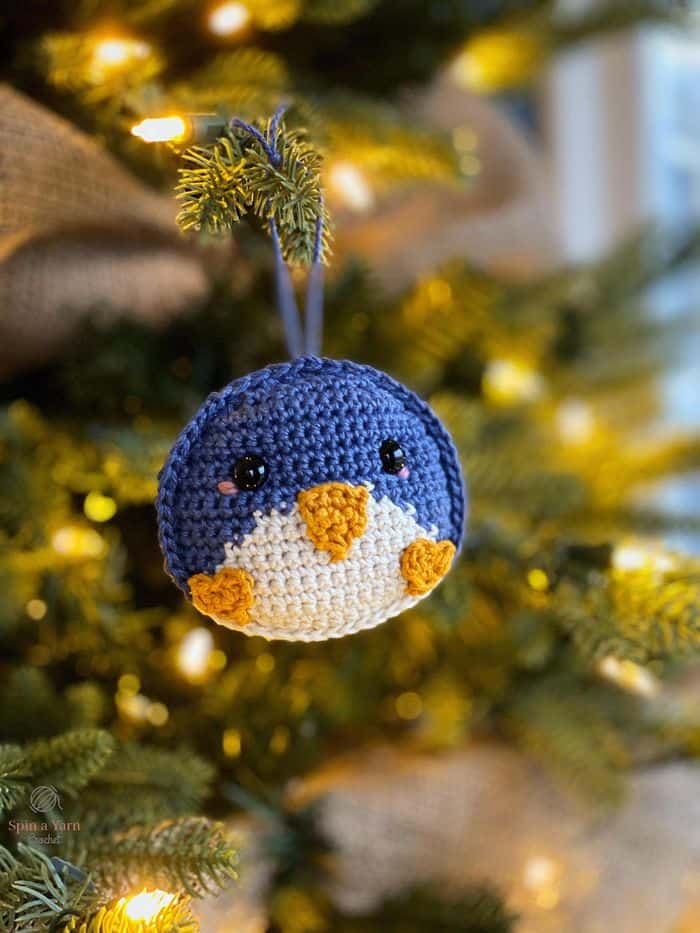 Penguin Ornament By SpinaYarnStudio