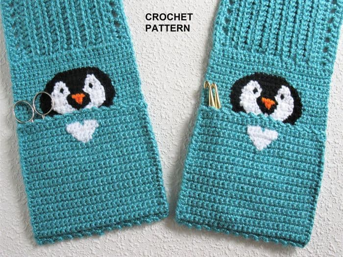 Penguin Pocket Scarf By HookNSaw