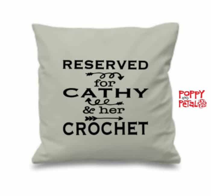 Poppy and Petal Personalized Crochet Pillow