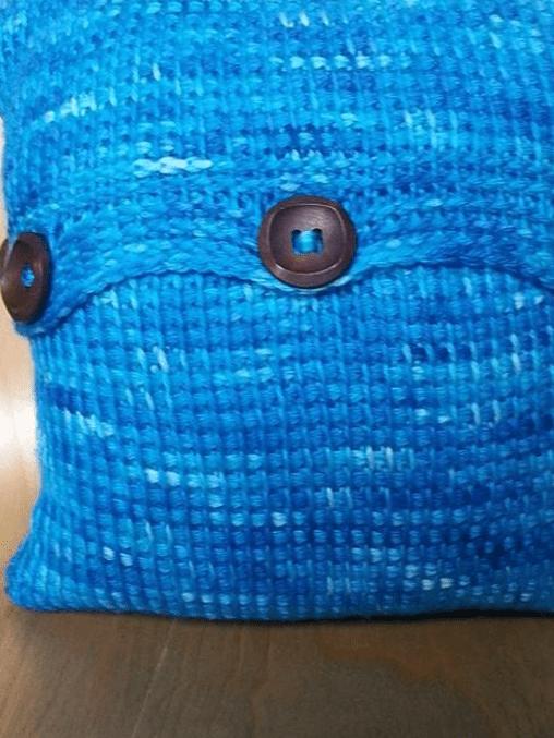 Tunisian Sampler Cushion Cover