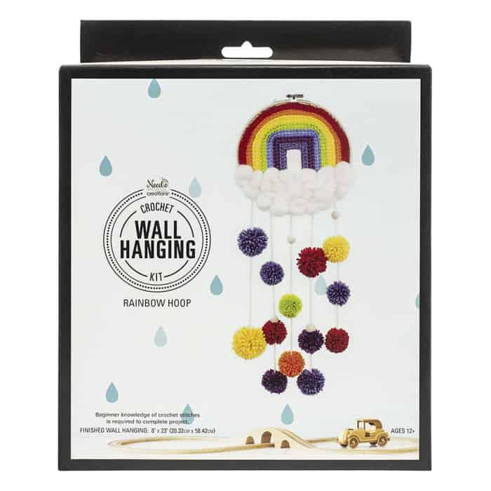 Rainbow Crocheted Wall Hanging
