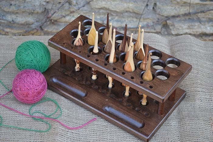 33 Hole Wooden Crochet Hook Organizer from Lettoworkshop Etsy Store
