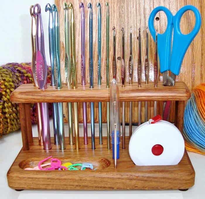 Chetnanigans Handcrafted Standard crochet hook stand