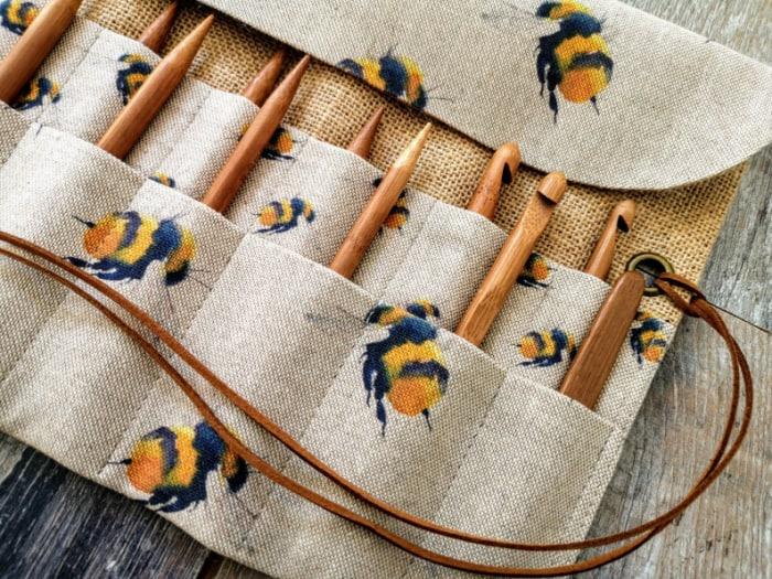 Crochet Hook Organizer from KnittingBagAndCase Etsy Store