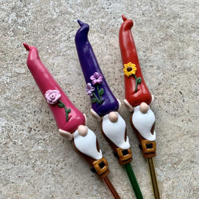 Garden Gnome Crochet Hook from ClayandFiberCo Etsy Store