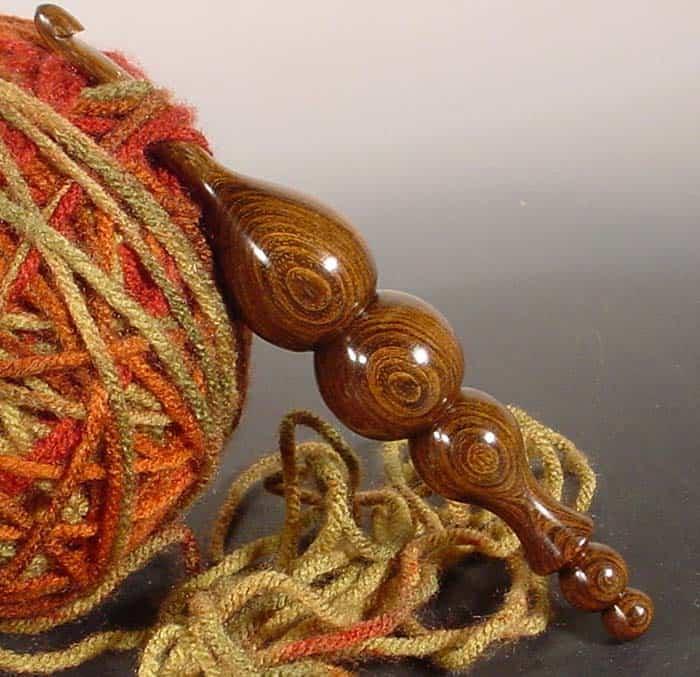 Hand Turned Ironwood Crochet Hook from NelsonWood Etsy Store