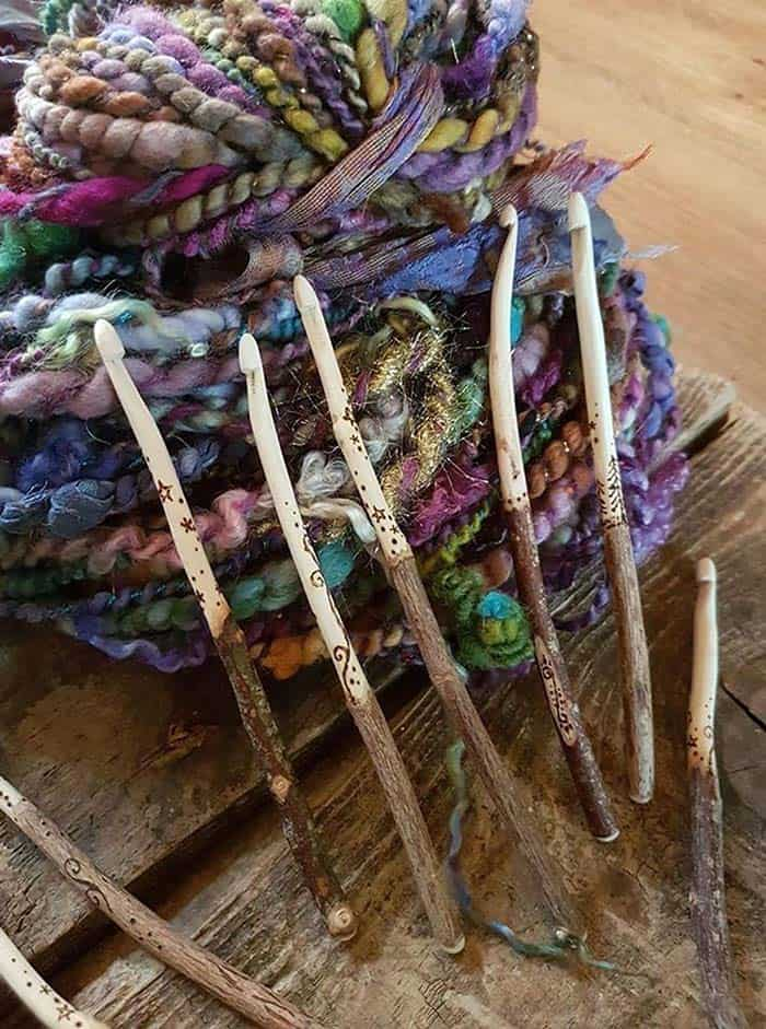 Handmade Crochet Hook Rustic Wooden from TinkertailorUK Etsy Store