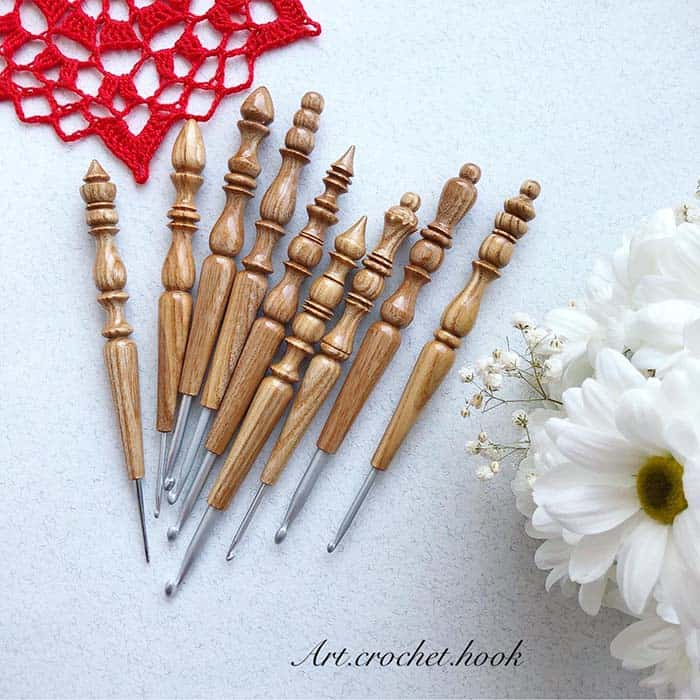 Handmade Custom Wooden Crochet Hook by Art Crochet Hook