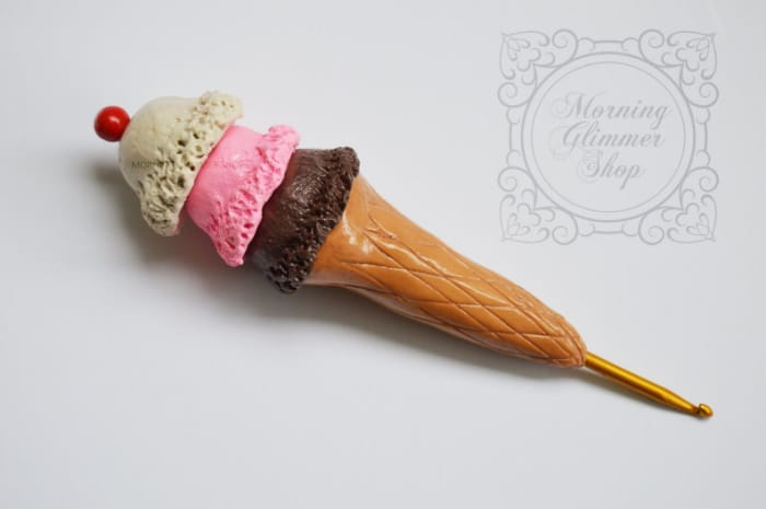 Icecream Scoop Crochet Hook from MorningGlimmerShop on Etsy