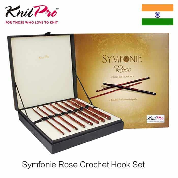 Knit Pro Knitters Pride Luxury Crochet Hook Symphonie Rose Set
