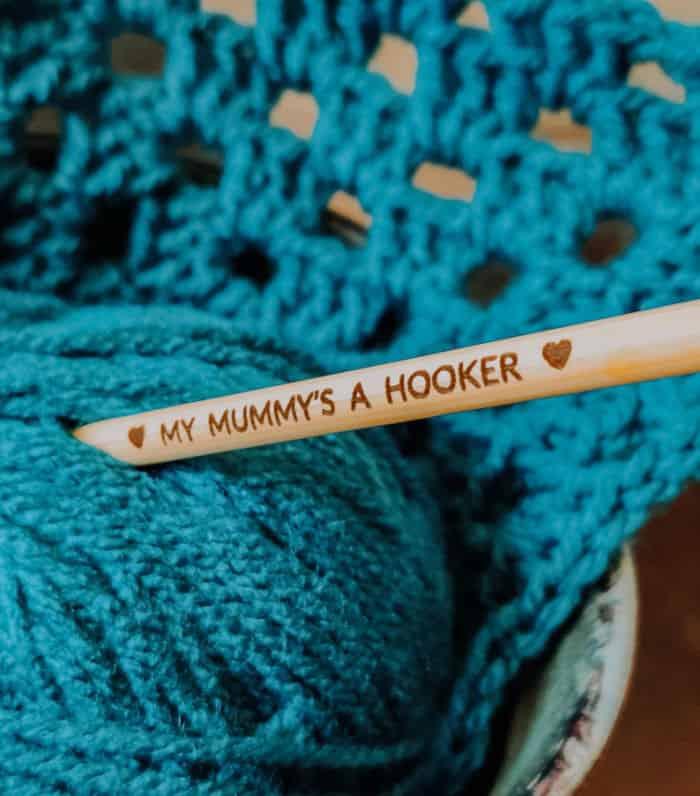 Personalised Bamboo Crochet Hook The CraftyCoupleLtd Etsy Store