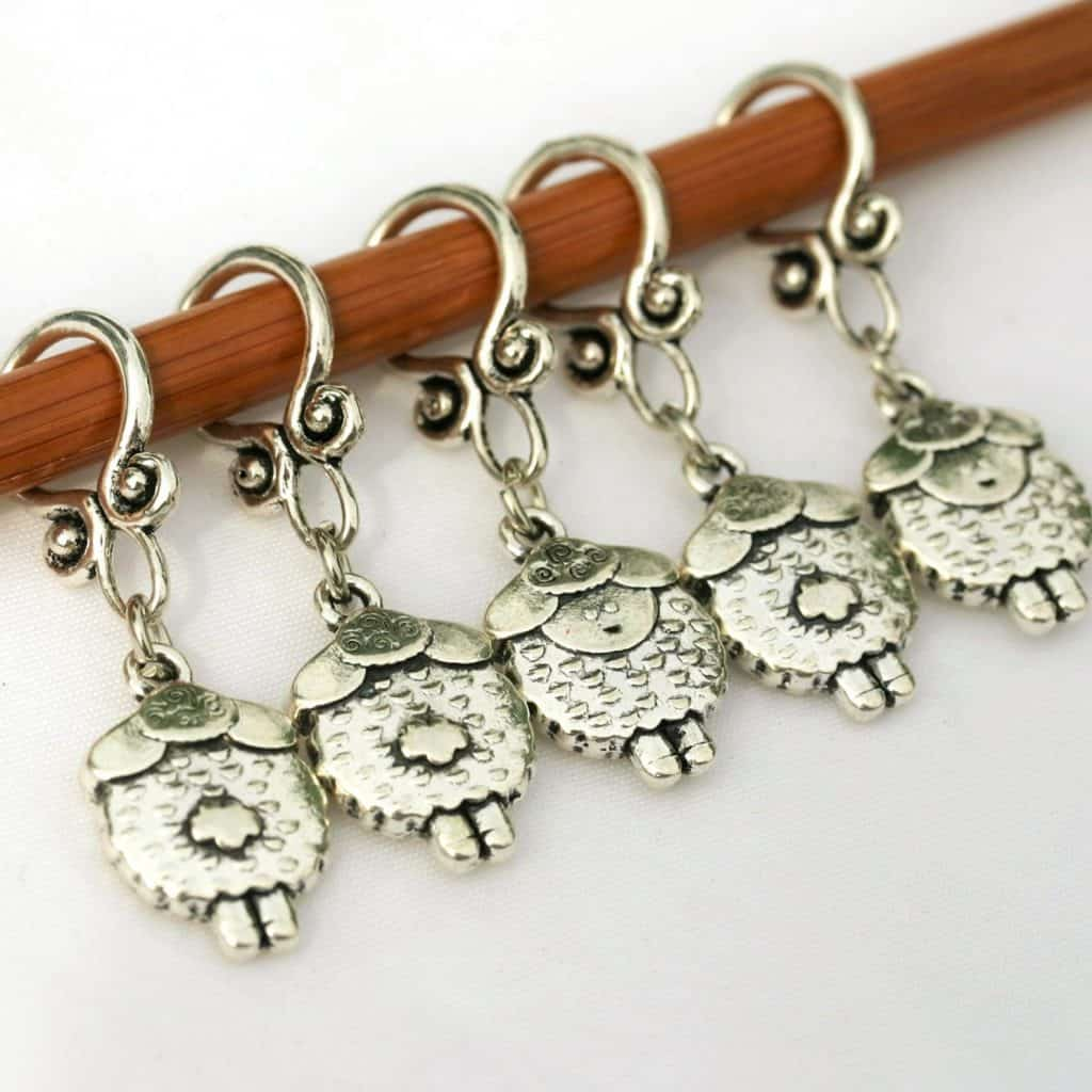 Sheep Stitch Markers from CupidFalls Etsy Store