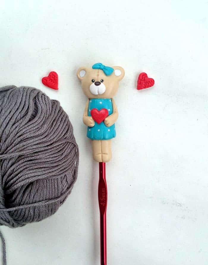 Teddy Bear Crochet Hook from RadArtaDesign Etsy Hook