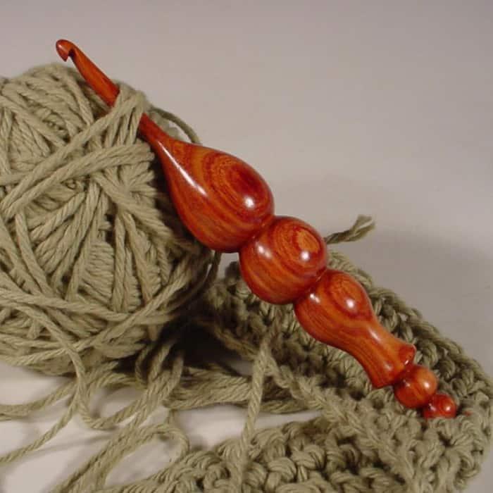 Exotic Tulipwood Wooden Crochet Hook