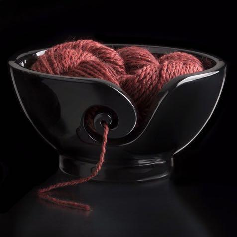 Furls Black Yarn Bowl