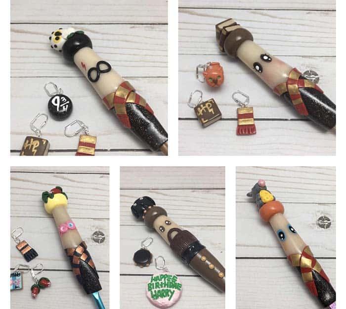 Harry Potter Ergonomic Polymer Clay Crochet Hooks TheSpeckledClay Etsy Store