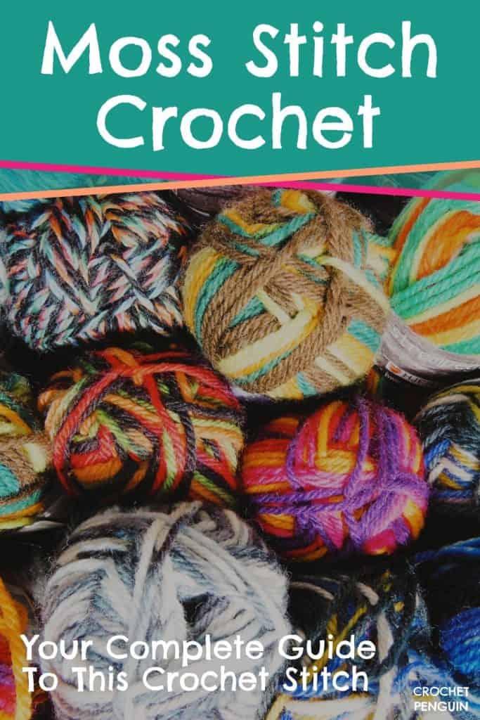 Moss Stitch Crochet Pin