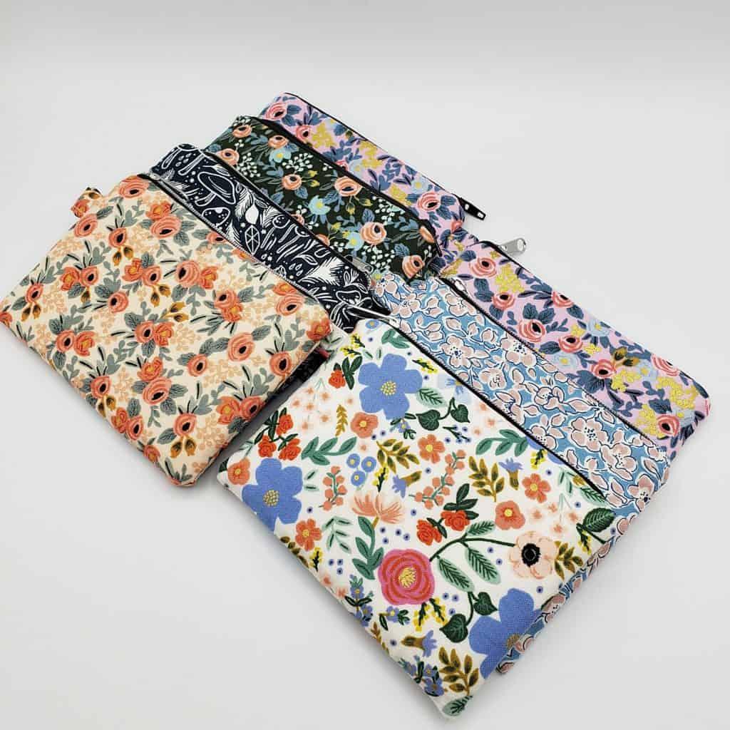 MatildaCraftStore on Etsy Zipper Pouch in a range of beautiful cotton fabrics