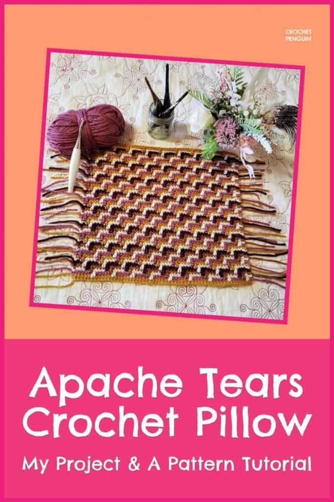 Apache Tears Crochet Pin