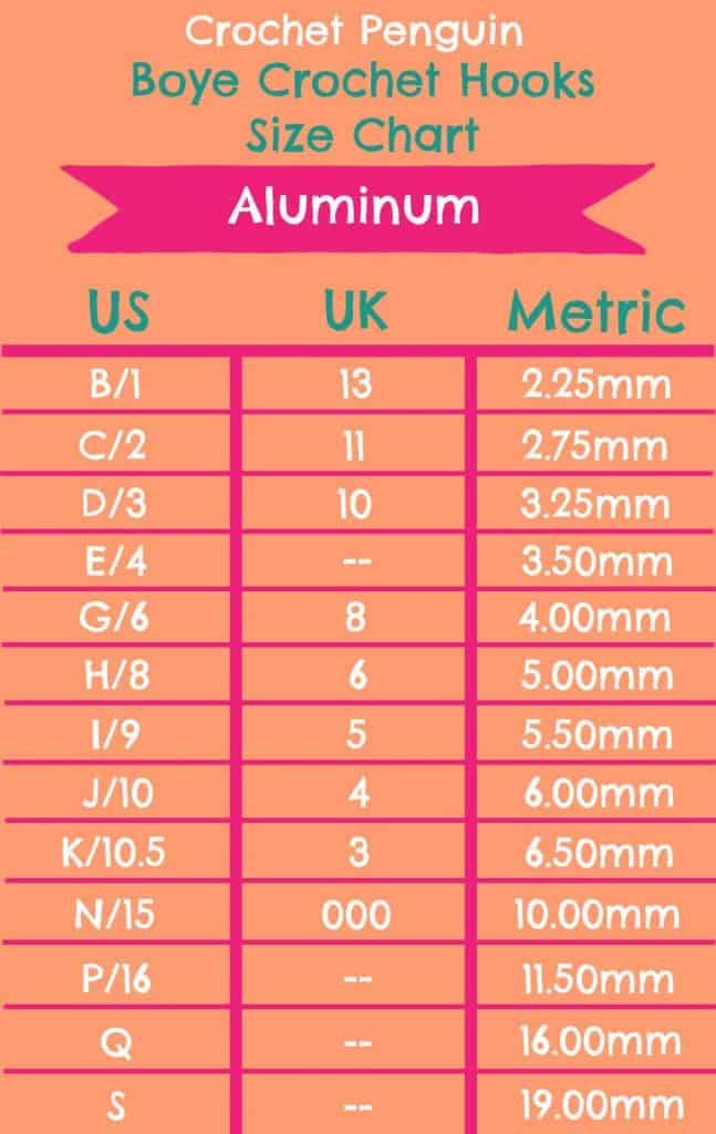 Aluminum Size Chart