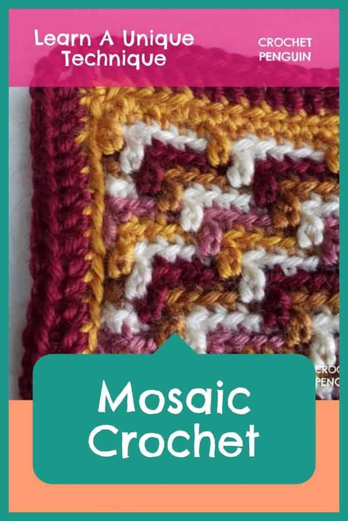 Mosaic Crochet Pin