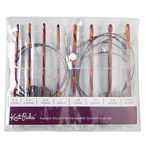 Radiant Wood Interchangeable Hooks by Knit Picks