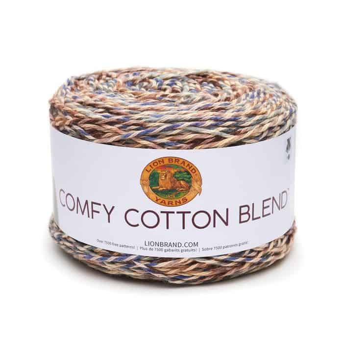 Lion Brand Comfy Cotton Blend yarn in Driftwood colorway