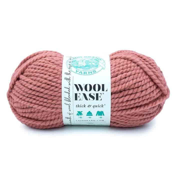 Lion Brand Wool Ease Thick & Quick in terracotta colorway