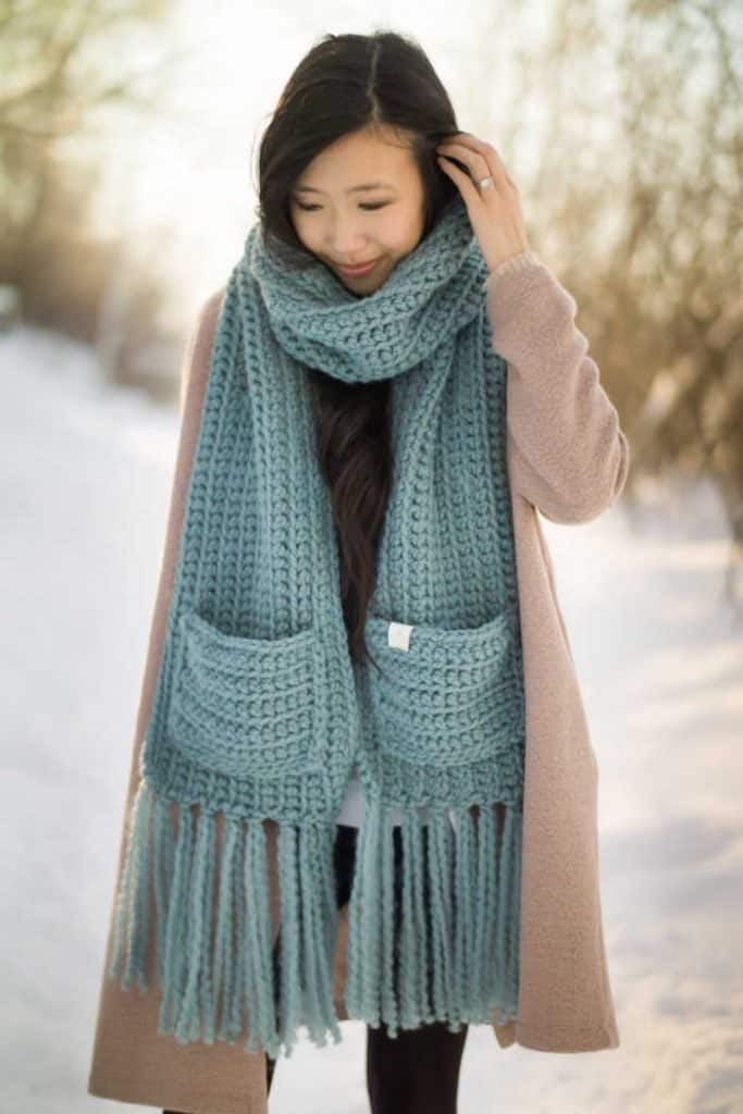 The Willow Scarf Kit by designer All About Ami at Lion Brand